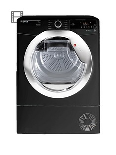 hoover-one-touch-dxc8tceb-8kgnbspcondenser-tumble-dryer-blackchrome