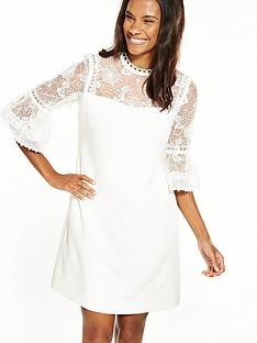 ted-baker-raechal-lace-peplum-sleeve-dress