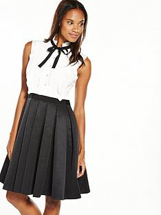 ted-baker-kimika-pleated-neck-tie-dress