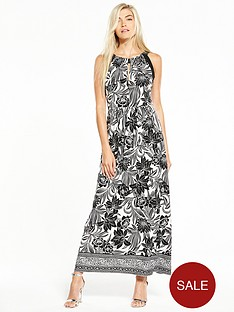 wallis-mono-leaf-blocked-maxi-dress