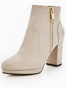 miss-selfridge-miss-selfridge-grey-zip-platform-ankle-boot