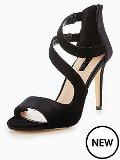 miss-selfridge-multistrap-heeled-sandal