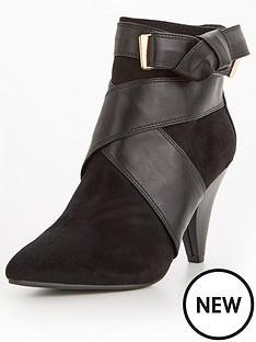 miss-selfridge-cone-heel-ankle-boot