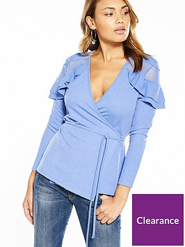 v-by-very-long-sleeve-mesh-insert-frill-top-sky-blue