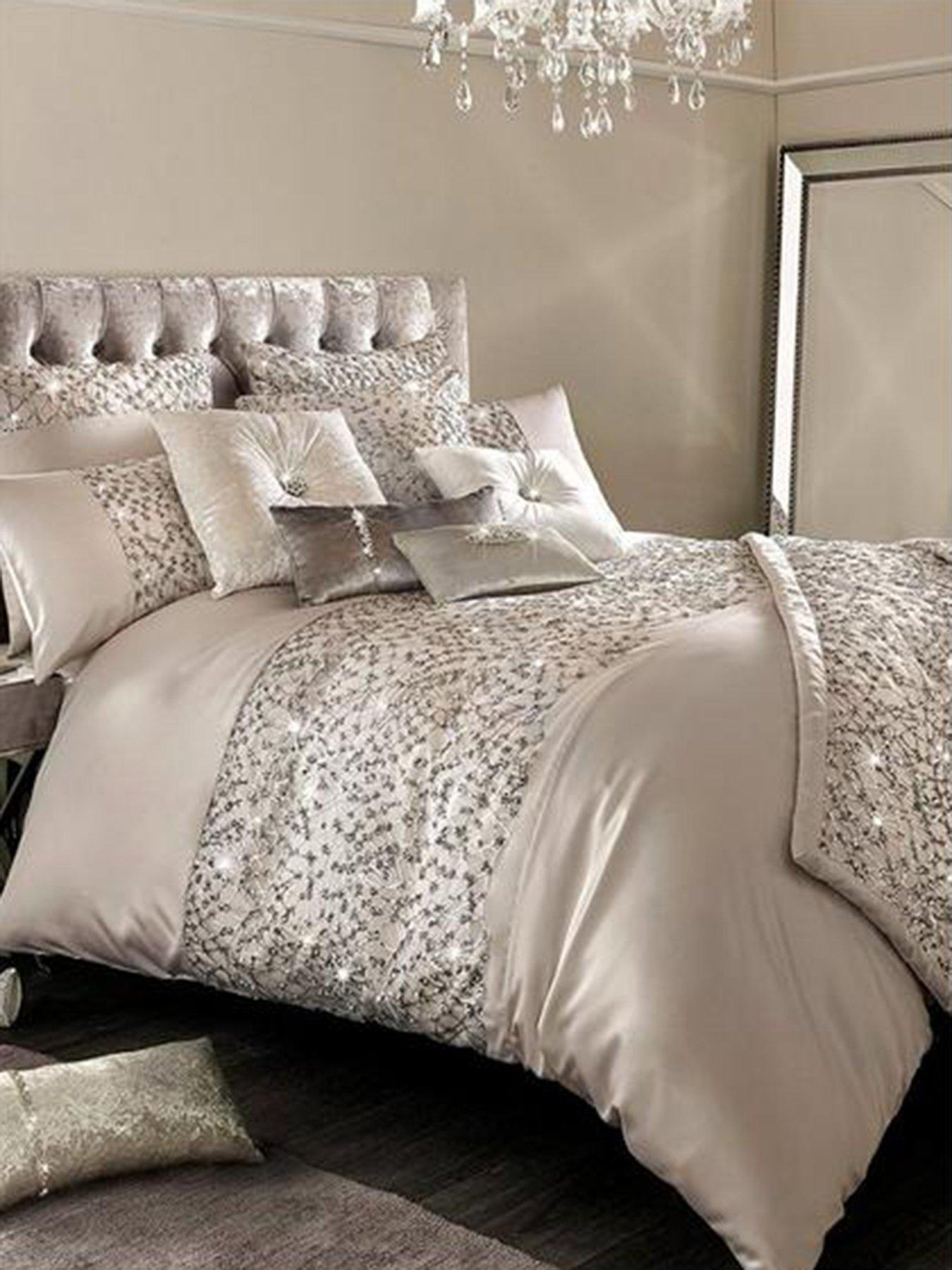 Gems Multi Colour Duvet Cover Bedding Set Jewels Black White Diamond Double 121