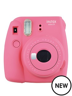 fuji-fujifilm-instax-mini-9-flamingo-pink-instant-camera-inc-10-shots-pink