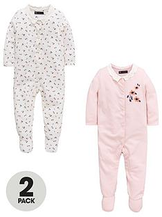 mini-v-by-very-baby-girls-2pk-floral-frill-sleepsuits