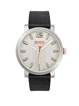 hugo-hugo-boss-orange-bilbao-silver-dial-black-leather-strap-mens-watch