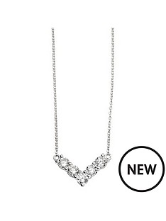 the-love-silver-collection-sterling-silver-cz-chevron-necklace