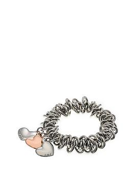 fiorelli-jewellery-costume-triple-heart-charm-scrunchie-bracelet