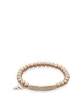 Fiorelli Jewellery Pavé Rose Gold Bead Stretch Bracelet ... f20561c698