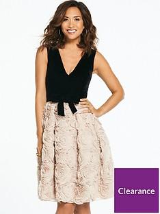 myleene-klass-velvet-top-textured-prom-dress-blacknude