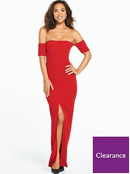 myleene-klass-bardot-split-maxi-dress