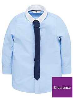 v-by-very-contrast-collar-oxford-shirt-with-navy-pindot-skinny-tie
