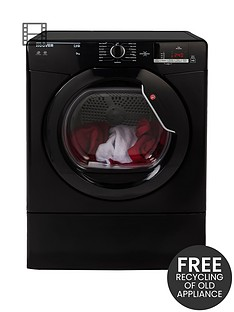 hoover-link-hlv9dgb-9kg-load-vented-sensor-tumble-dryer-with-one-touch-black