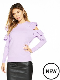 v-by-very-ruffle-cold-shoulder-detail-jumper