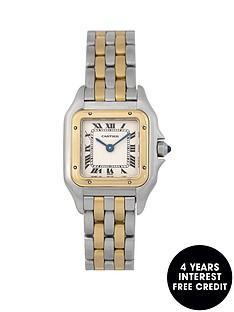 cartier-cartier-pre-owned-ladies-bimetal-panthere-2-row-quartz-watch-off-white-dial-ref-166921