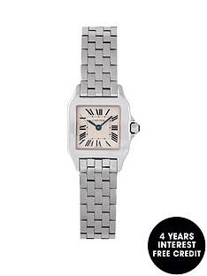 cartier-cartier-pre-owned-ladies-steel-santos-demoiselle-watch-off-white-dial-ref-2698