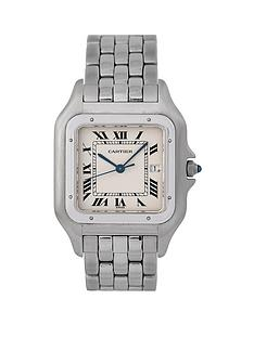 cartier-cartier-pre-owned-gents-jumbo-stainless-steel-panthere-watch-off-white-dial-ref-1300