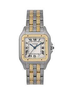 cartier-cartier-pre-owned-gents-bimetal-panthere-2-row-watch-off-white-dial-ref-183949