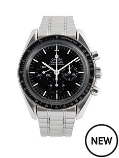 omega-omega-pre-owned-gents-steel-speedmaster-mechanical-watch-black-dial-ref-359050