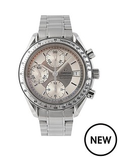 omega-omega-pre-owned-gents-steel-speedmaster-reduced-date-watch-silver-dial-ref-351313
