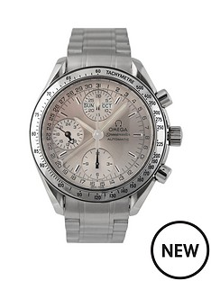 omega-omega-pre-owned-gents-steel-speedmaster-reduced-triple-calendar-watch-silver-dial-ref-352330