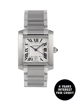 cartier-cartier-pre-owned-gents-steel-tank-francaise-automatic-watch-off-white-dial-ref-2302