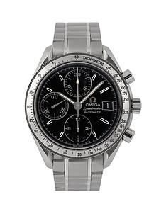 rolex-omega-pre-owned-gents-steel-speedmaster-reduced-date-watch-black-dial-ref-351313