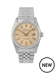 rolex-rolex-pre-owned-gents-stainless-steel-datejust-watch-champagne-baton-dial-reference-16014