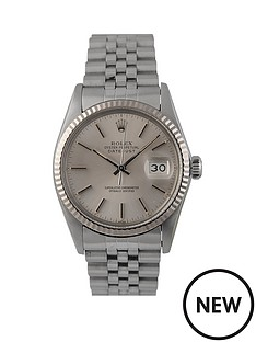 rolex-rolex-pre-owned-gents-stainless-steel-datejust-watch-silver-baton-dial-reference-16014
