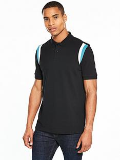 v-by-very-short-sleeve-pique-panel-polo