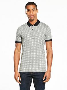 v-by-very-short-sleeve-jersey-grid-print-polo