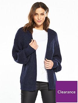 v-by-very-chunky-rib-balloon-sleeve-short-cardigan