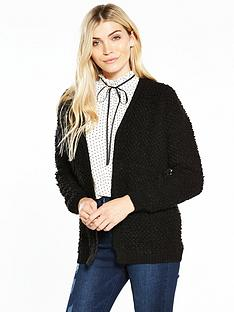 v-by-very-loop-stitch-short-cardigan-black