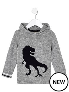river-island-mini-boys-grey-knit-dinosaur-hooded-jumper