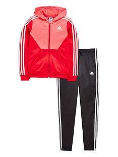 adidas-adidas-older-girls-hooded-poly-tracksuit