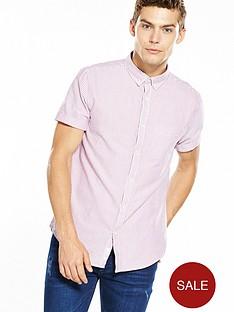 river-island-short-sleeve-stripe-oxford-shirt