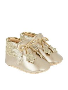 monsoon-baby-metallic-star-bootie