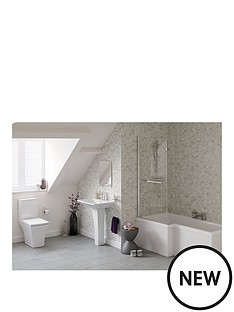 indulge-left-hand-showerbath-suite-ndash-includes-bath-bath-screen-pedestal-basin-toilet-amp-taps