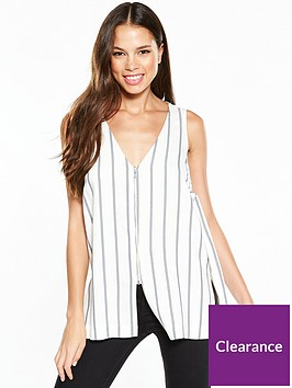 river-island-river-island-zip-detail-stripe-sleeveless-top