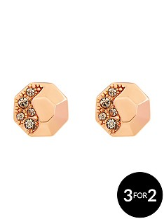 karen-millen-rose-gold-colour-plated-swarovskinbspearrings