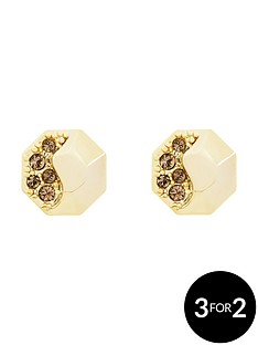 karen-millen-gold-colour-plated-swarovski-earrings
