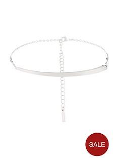 karen-millen-silver-colour-plated-swarovski-crystal-choker