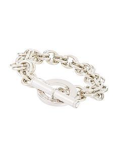 karen-millen-silver-colour-plated-swarovski-encrusted-bracelet