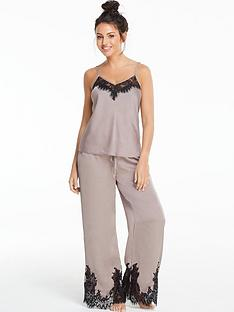 michelle-keegan-lace-and-satin-pyjama-set