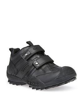 Geox Geox Savage Boys Velcro Strap School Shoes - Black Picture