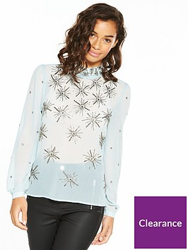 v-by-very-petite-high-neck-embellished-blouse