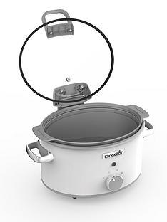 crock-pot-hinged-lid-saute-slow-cooker-with-duraceramic-csc038nbsp--whitenbsp