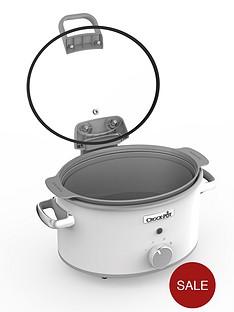 crock-pot-hinged-lid-saute-slow-cooker-with-duraceramic-csc038nbsp--whitenbsp